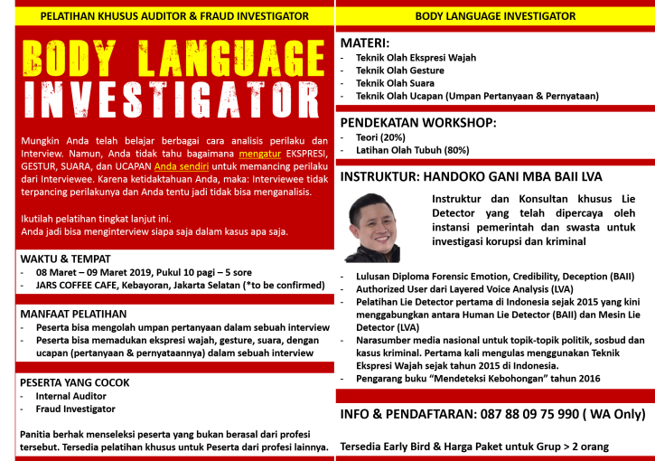 Materi PNG_Body Language Investigator_8-9 Maret 2019